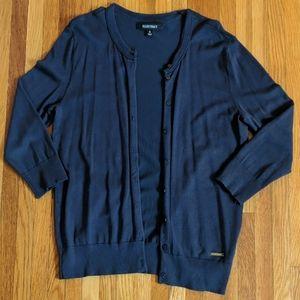 Ellen Tracy - Classic Cropped Sleeve Cardigan